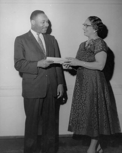 Freedom House reception for Martin Luther King, Jr., March 20, 1958