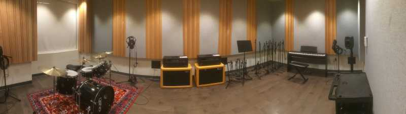 Picture of recording studio.